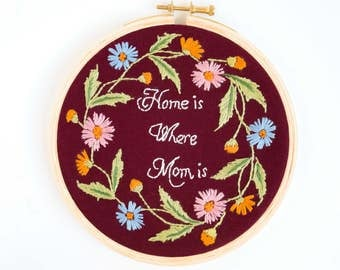 mothers day gift - embroidery hoop art - modern hand embroidery - home decor - wall art - wall decor - gifts for mother - gifts for mom -
