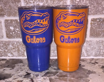 Florida Gators Orange or Blue  30 oz Yeti Rambler Tumbler / University of Florida