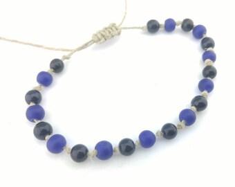 Knotted Hemp Bracelet, Beaded Hemp Bracelet Handmade, Knotted Bracelet, Boho Bracelet, Friendship Bracelet, Bracelet, Jewelry, Hemp