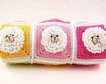 Crochet Blanket Pattern/Little Sheep Baby Blanket pattern/Step-by-step tutorial/Baby blanket pattern /Animal blanket pattern/Crochet pattern