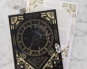 Custom Astrology Birth Chart - GOLD