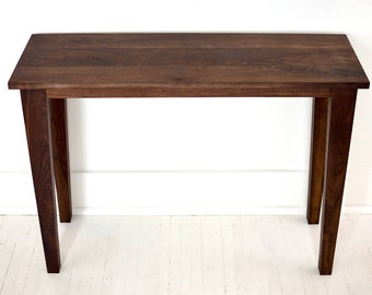 Black Walnut Entry Table | Sofa Table | Modern Walnut Hall Table | Console Table | Walnut Table