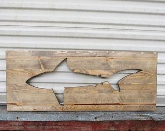Wooden Fish Wall Decor pallet fish cutout | etsy