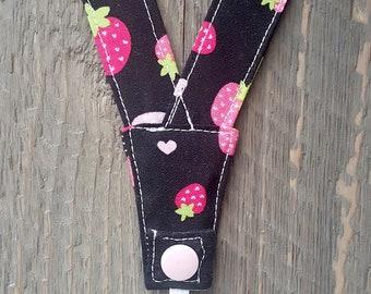 Super no-slip Secure and Comfortable Nebulizer Head Strap -- Strawberries