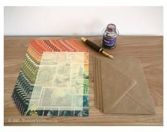 Forest Fire Letter Set - A5 Notepaper, Postage Stamp Art Design
