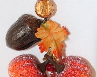 Pumpkin Acorn Thanksgiving Tablecloth Weights Set of 4