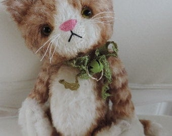 Cricket, OOAK Mohair Artist Kitten Cat, Aleta Breese