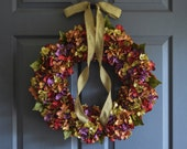 Beautiful Wreaths | Blended Hydrangea Wreath | Winter Wreaths | Spring Wreath | Front Door Wreaths | Outdoor Wreaths | Summer Wreath