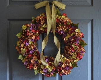 Beautiful Wreaths | Blended Hydrangea Wreath | Winter Wreaths | Summer Wreath | Front Door Wreaths | Outdoor Wreaths | Summer Wreath