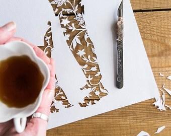 Custom Paper Cut / Custom Art / Bespoke Gift / Personalised Gift / Paper Anniversary / Custom Wedding Gift / Paper Wall Art / Paper Cut Gift