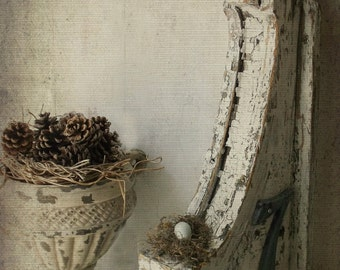 Antique Corbel. Shabby Chippy Rustic Architectural Salvage. French Farmhouse Rustic Romance. Apt. NO. 7