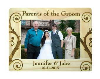 Wedding gifts, Parents of the Groom Gift, Parents of the Bride Gift, Personalized Rustic Frame, Personalized Wedding gifts, Custom Frame