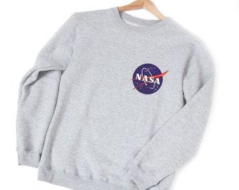 Nasa logo Nasa sweatshirt Nasa patch Space sweatshirt Nasa sweater Nasa space Nasa gift Aesthetic clothing NASA Space science YPe011