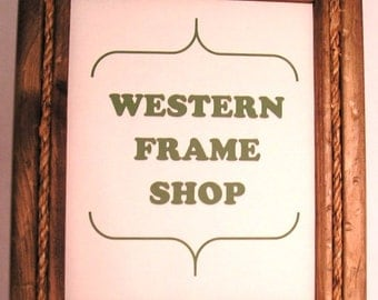 Cowboy Rope. Rope Picture Frame. Western frame with rope. Rustic rope frame. Nautical Rope Frame