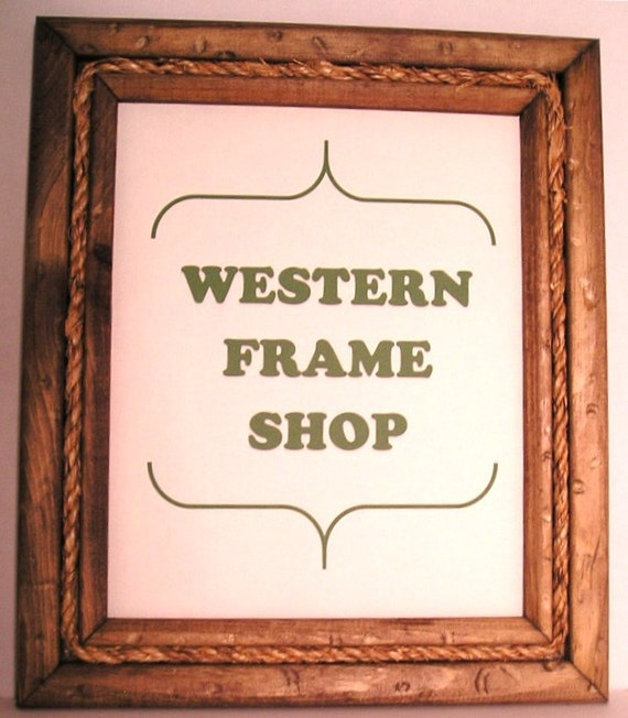 Western Decor Frames: Cowboy Rope. Rope Picture Frame. Western Frame With Rope