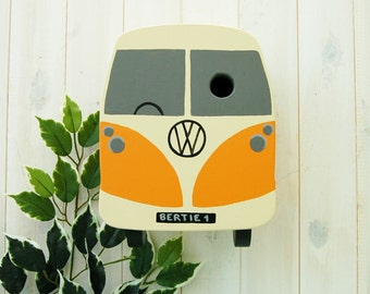 Personalised Bird House Campervan Bird Box, Camper Gift Garden Gift