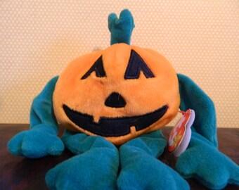 "TY Orange Halloween Pumpkin ""Pumkin"" (B)"
