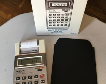 Vintage Sharp Brand Print Calculator