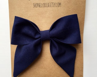 Navy Blue Sailor Bow