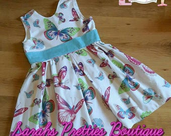 Age 5 butterfly party dress