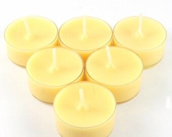 Sparkling Lemon Handmade Premium Quality Highly Scented 6 Tea Light Candles