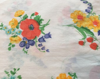 Twin Flat Sheet and Pillowcase - Utica - Vintage
