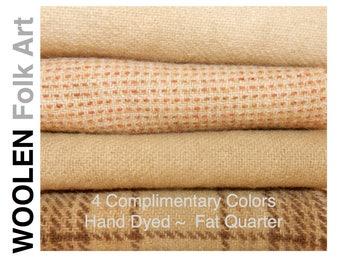 Bundle No.17;Rug Hooking Wool;Applique Wool;Penny Rug Wool;Felted Wool;Fat Quarter; 8 Color Bundle of Wool