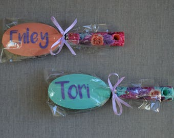 Personalized Brushes/Party Favor/Birthday/Shower. Great for Girls Dance/Cheer/Gymnastics Teams!