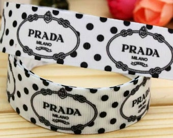 P Brand Designers Logo 7/8 inch Grosgrain Ribbon By the Yard