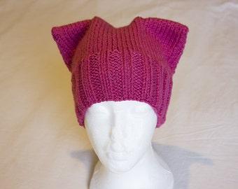 Pink Pussycat Hat, Cat Ears Hat, Pussycat Hat, Pink Hat