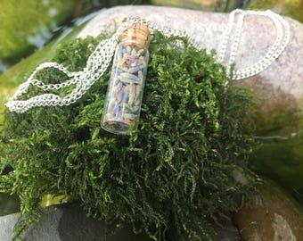 Lavender Mini Bottle Necklace