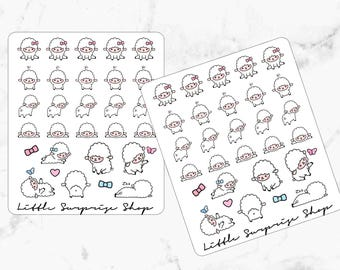 Kawaii Sheep Stickers//KA009