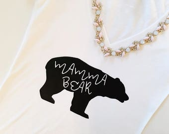 Mamma Bear, Mamma Bear tshirt, Mother's gift, mom gift, i love mom, mothers day gift, mom birthday, mothers day, new mom, baby shower gift