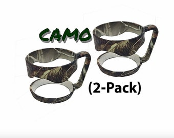 Personalized Optional 2 Pack Camo Camouflage Tumbler Handle • Fits 30oz: Yeti, RTIC, Ozark, Polar Camel others