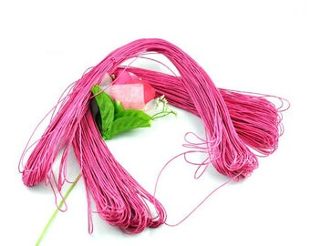 80 m wire cotton wax 1 mm Fuchsia color