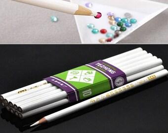 3 pencils catcher rhinestones Micro beads