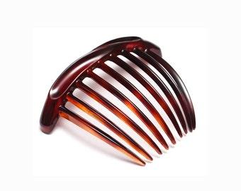 French Modern Design Hair Comb Celluloid Acetate 4 Inches Tortoise Shell Hair Clip Hair Accessories  T22