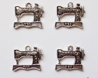 6 retro sewing machine charms - SCS