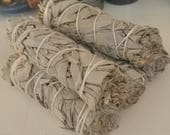 "White Sage Bundles // 4""-5"" CA White Sage Bundle // Matchbox + Tealight"