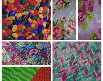 Pattern Glitter HTV, Glitter Heat Transfer Vinyl, Siser Glitter, Patterned, Printed, HTV, Easter, Mother's Day, Chevron, Animal Print, Aztec