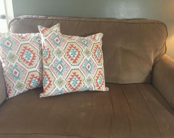 Geometric Aztec pillow cover set