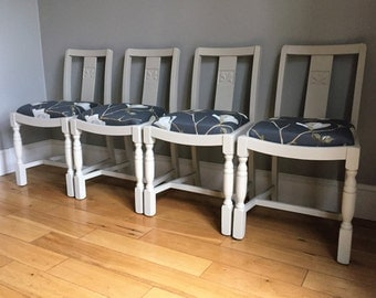 Set of 4 CC4 Wooden Painted Dining Chairs (delivery quote available on request)