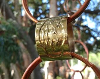 Copper & Vintage Brass Rain Chain