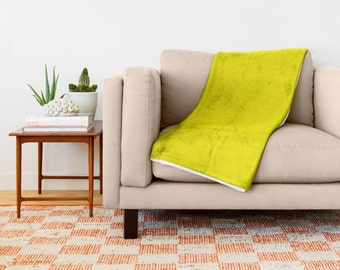 Yellow Throw Blanket Yellow Sherpa Fleece Blanket Soft Yellow Throw Blanket Cozy Yellow Throw Blanket Yellow Throw Living Room Decor