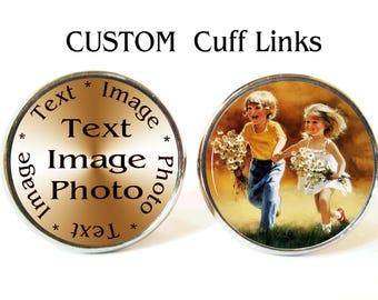 Custom Cufflinks, Custom name cufflinks, custom cuff links, custom wedding, custom cuff, custom tags, custom tie clip tie bar, photo