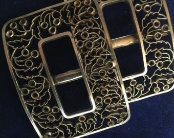 Beautiful Pair of Victorian Silver Buckles
