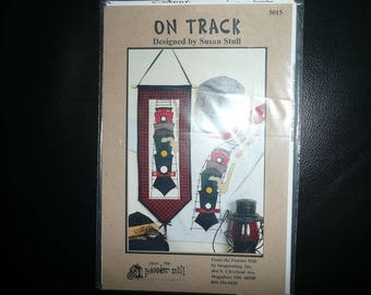 From The Powder Mill On Track Trains Wall Hanging Quilt Pattern