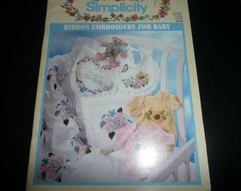 Simplicity Ribbon Embroidery For Baby,Cheerful Nursery Treasures Silk Ribbon Embroidery Books