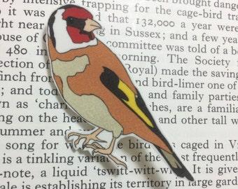 Goldfinch Brooch