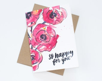 """So Happy For You - Greeting Card 4.25"""" x 5.5"""""""
